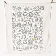 Honeycomb Flower Towel : Slate