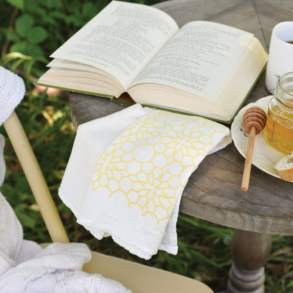 Honeycomb Flower Towel : Yellow