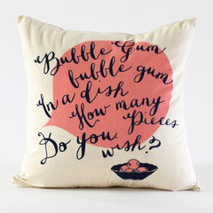 Bubble Gum Pillow Cover