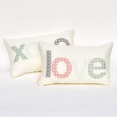 Love & XOXO Reversible Pillow : Cover Only