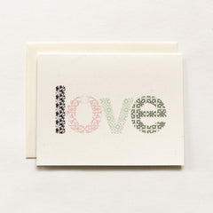 Woodblock Love Card