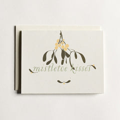 Mistletoe Kisses Cards : Boxed Set of 8