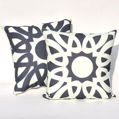 Navy & Mint Loop Reversible Pillow : Cover Only