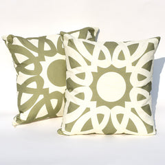 Pesto & Garlic Loop Reversible Pillow : Cover Only