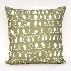 Pesto & Garlic Squiggles Reversible Pillow : Cover Only