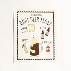 Root Beer Float Art Print