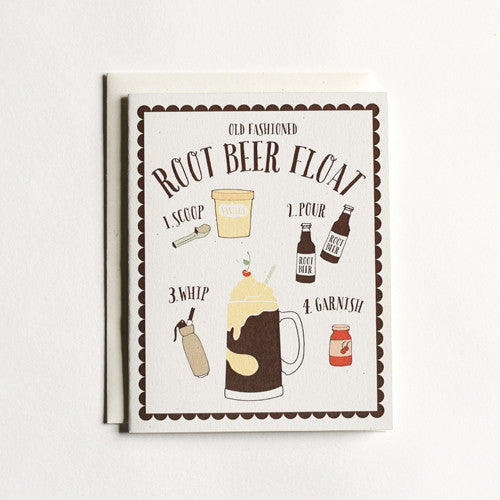 Root Beer Float Card