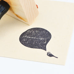 Cheeseburger Chickadee Stamp
