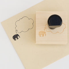 Elephant Thought Bubble Stamp