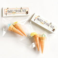 Sweet Thank You Treat Bag Kit : Set of 10