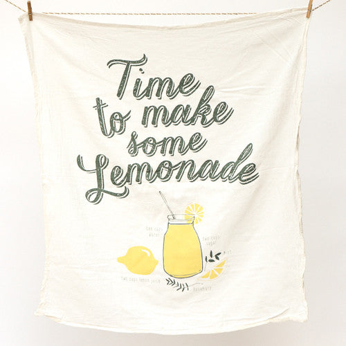 Lemonade Recipe Towel