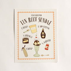 Tin Roof Sundae Art Print