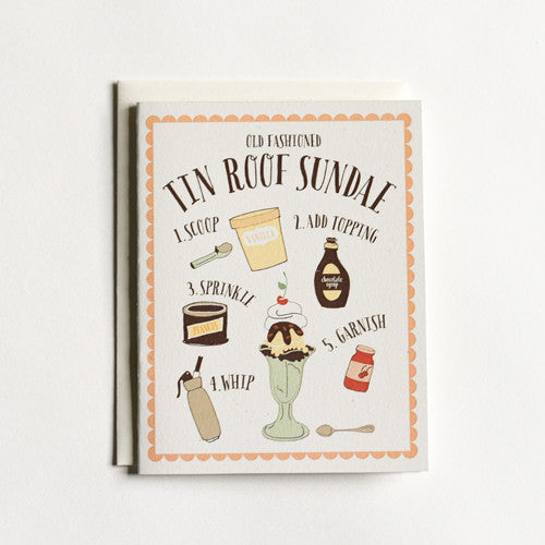 Tin Roof Sundae Card
