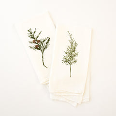 Winter Greens Napkins : Set of 4