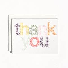 Thank You Card : Woodblock