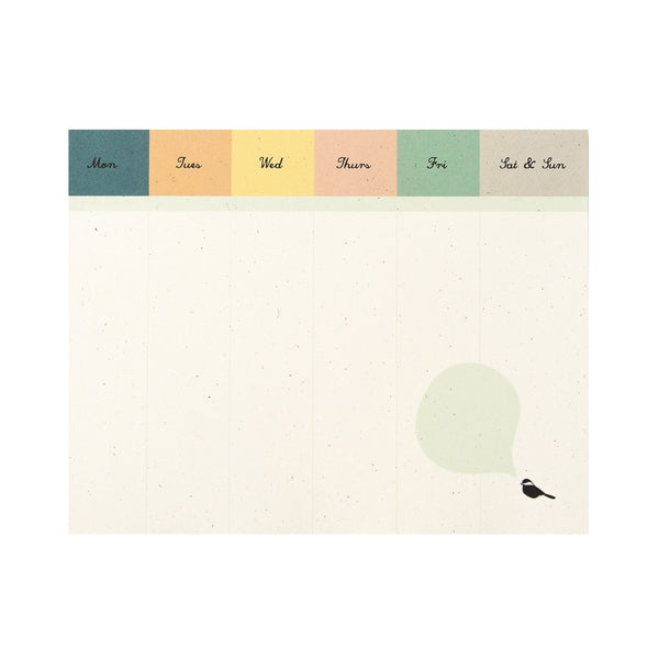 Chickadee Desk Pad : Weekly To Do