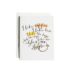 Coffee & Tea Card