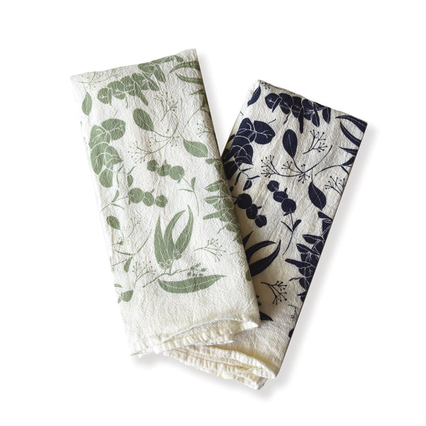 Mixed Eucalyptus Twigs Napkins : Set of 4