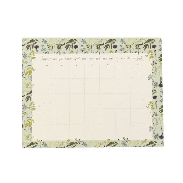 Garden Herb Calendar Desk Pad : Monthly To Do