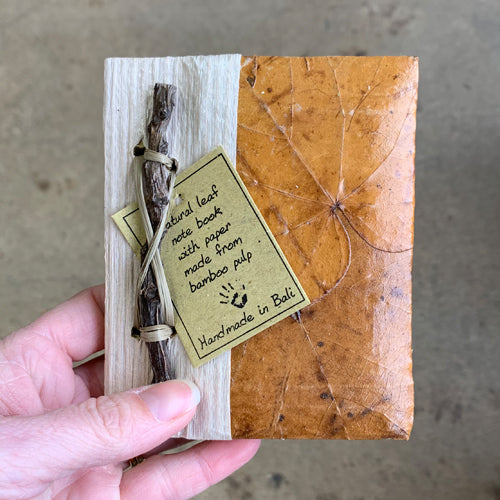 Handmade Leaf/Stick Journal