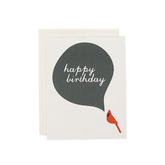 Happy Birthday Card : Cardinal