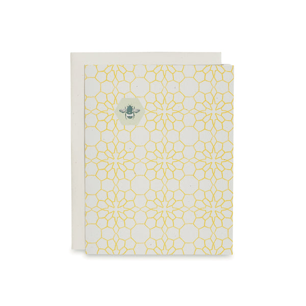 Honeycomb Flowers Card