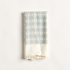 Honeycomb Flowers Napkin : Slate Blue
