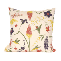 Hummingbird Garden Pillow Cover