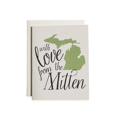 Love From the Mitten Card