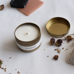 Gold Tin Love Potion Candle