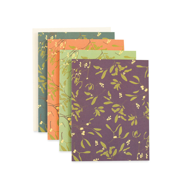 Moody Mistletoe Cards : Boxed set of 8