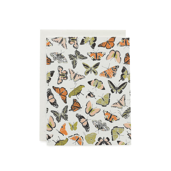 Butterfly Kisses Card : Orange