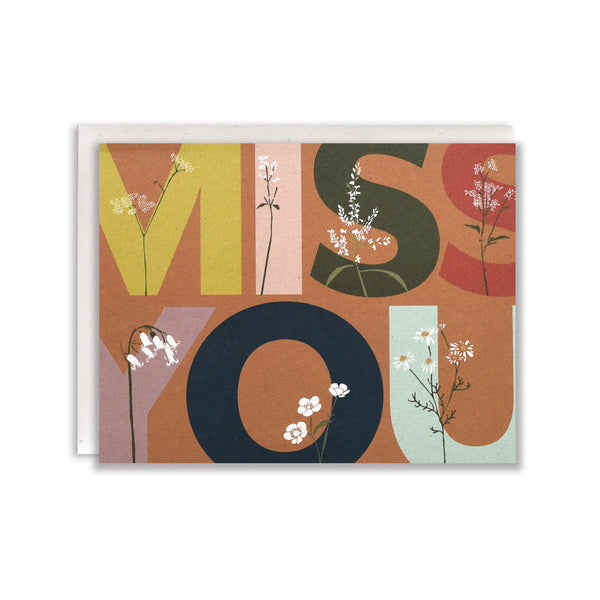 Overgrown Miss You Card