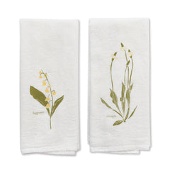 Strength + Happiness (Plantain + Lily of Valley) Napkins