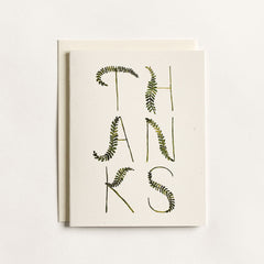 Fronds Thank You Cards : Boxed Set of 8
