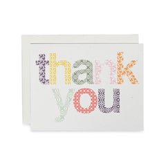 Woodblock Thank You Cards : Boxed Set of 8