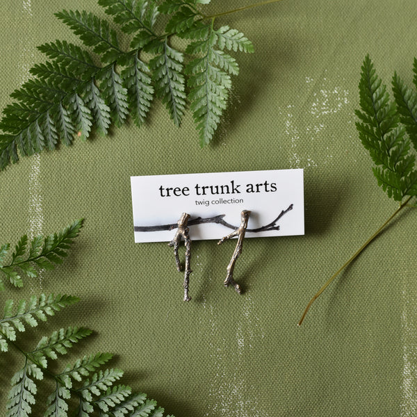 Bronze Twig Earrings