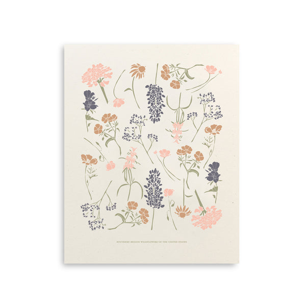Southern Wildflowers Art Print