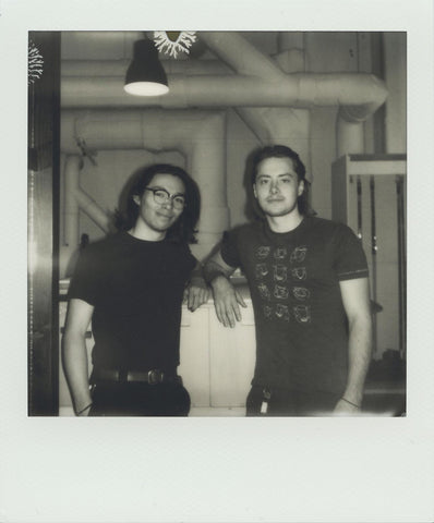 Cole and Raph in the FilmNeverDie lab, 2019