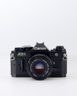 Canon AE-1 Program 35mm SLR film camera with 50mm f1.8 lens