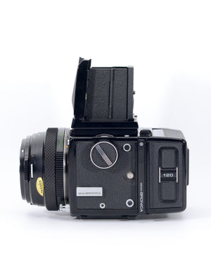 Bronica ETR Medium Format film camera with 75mm f2.8 lens