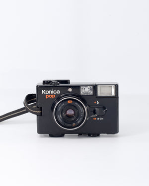Konica Pop 35mm Point & Shoot film camera with 36mm f4 lens