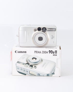 Canon Prima Zoom 90u II Date 35mm Point & Shoot Film Camera with 38-90mm Lens