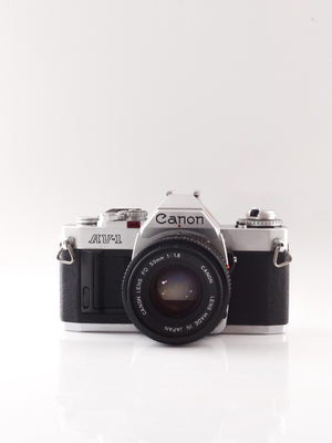 Canon AV-1 35mm SLR Film Camera with 50mm f1.8 Lens