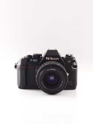 Nikon F-501 35mm SLR film camera with 35-70mm zoom lens