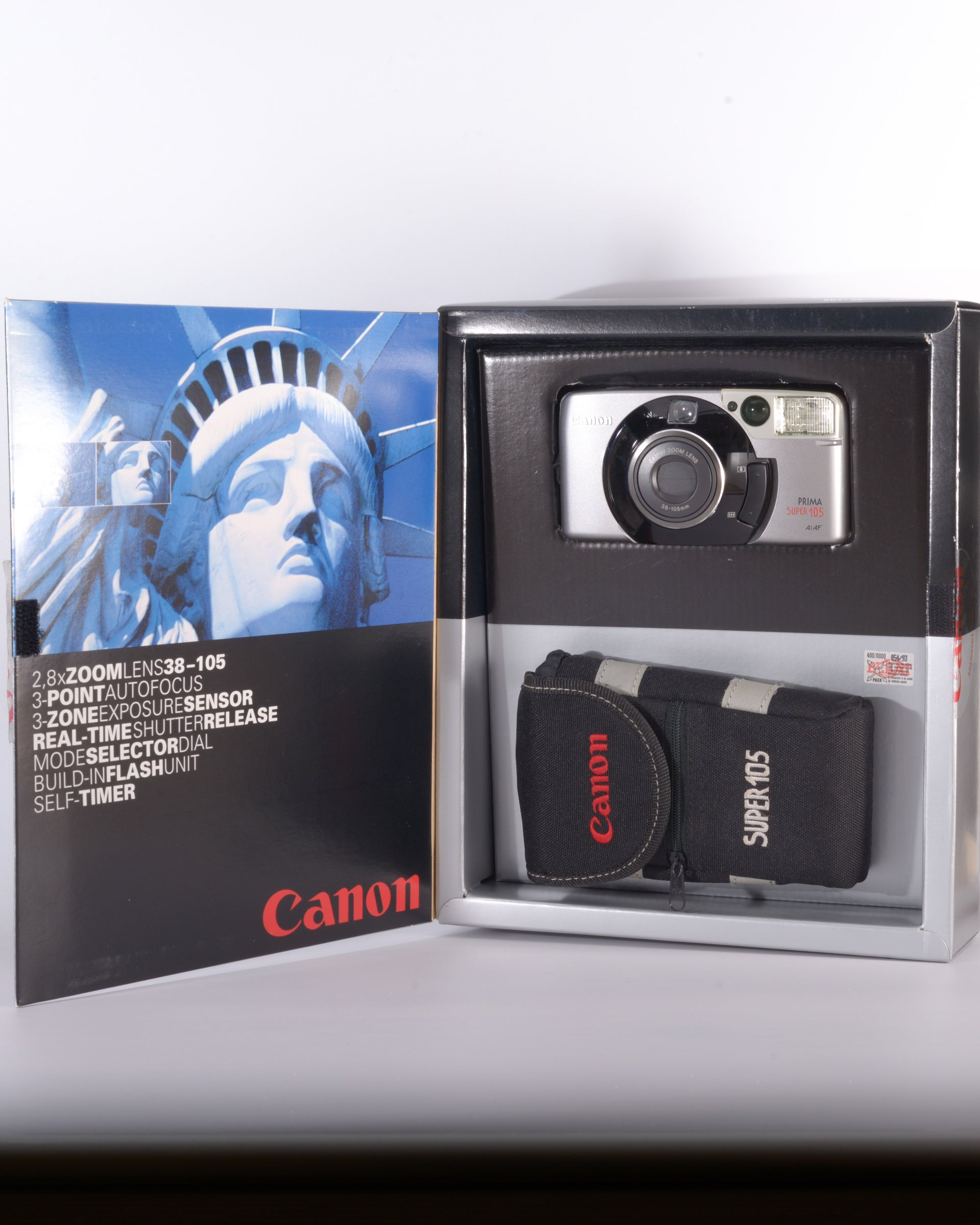 Boxed Canon Prima Super 105 35mm Point & Shoot Film Camera with 38-105mm Lens