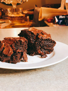 Vegan Dark Chocolate Chunk Brownies