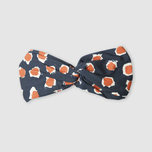 Small Stories Dot Blue and Orange Headband