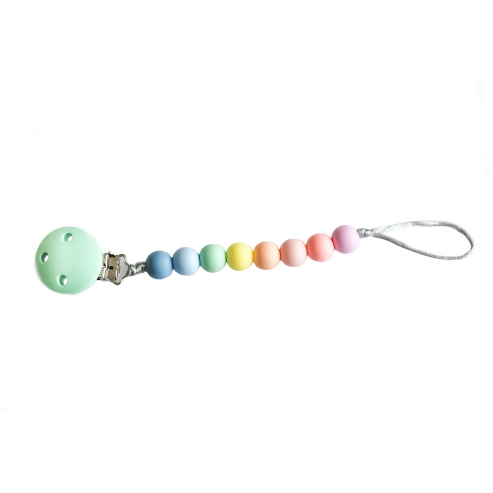 Dummy Clip for Babies BPA free, Rainbow