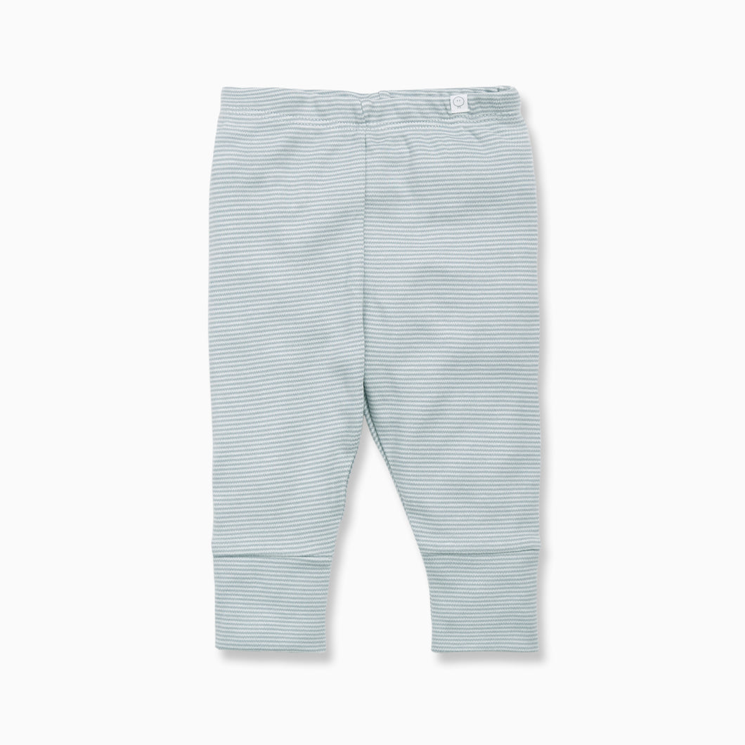 Organic Cotton blue stripe baby leggings